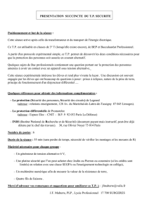 Protection des personnes en courant alternatif