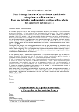 Lettre format Word