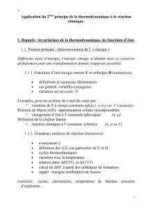Application du 2ème principe de la thermodynamique à la