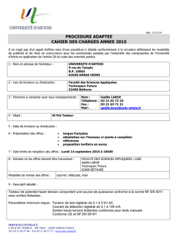 cahier des charges annee 2015