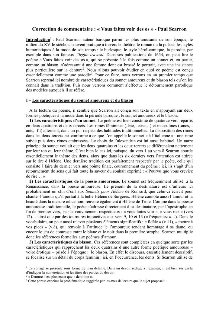 Dissertation commentaire littraire