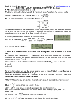 Bac S 2015 Amérique du sud Correction © http://labolycee.org