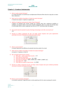 Cahier electro Chapitre N°2