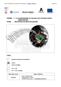 titre : initiation au multiplexage