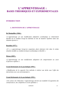 L`apprentissage