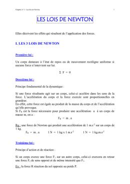 lois de newton terminale s pdf