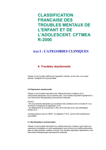 classification francaise des troubles mentaux de l`enfant