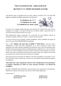 VELO CLUB BUGUOIS – 24260 LE BUGUE SECTION V.T.T.
