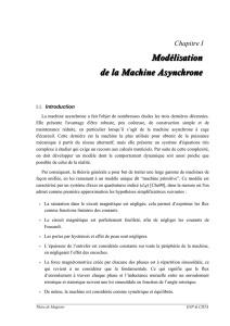 I.Modélisation analytique de la machine asynchrone