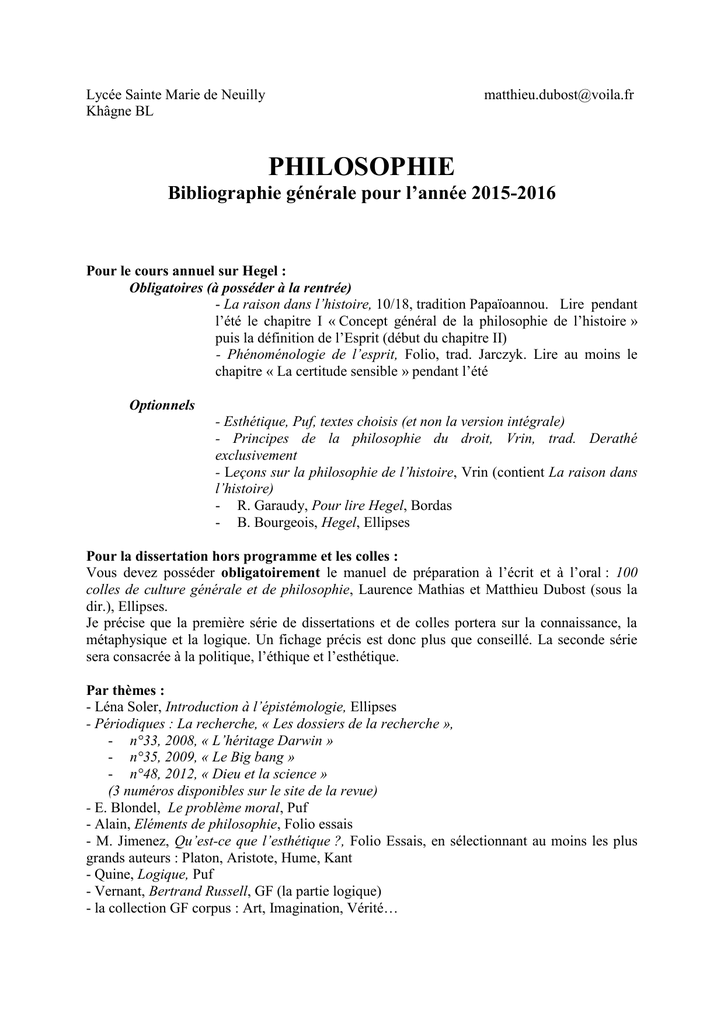 dissertation philosophie khagne