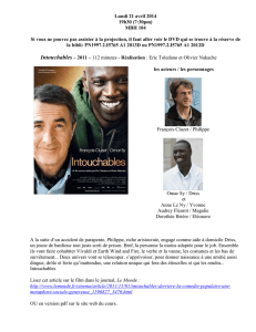 Intouchables – page 1 Lundi 21 avril 2014 19h30 (7:30pm) MBH