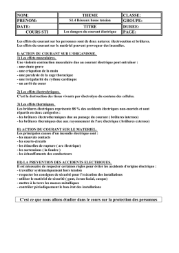 Les dangers du courant document professeur