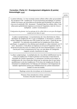 Correction :Partie 2.2 : Enseignement obligatoire (6 points