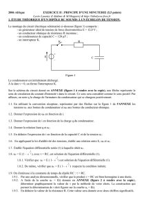 Exercice 2 Principe d`une minuterie 5,5 pts