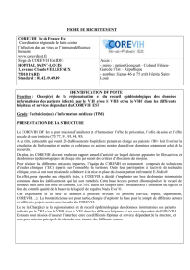 Description poste Technicien Information Médicale Corevih