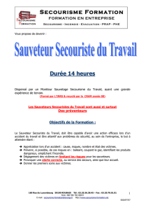 SST 14h - Formation secourisme Roubaix Nord