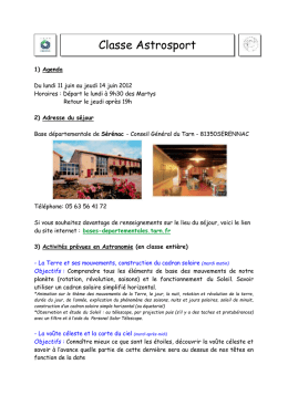 Document d`informations