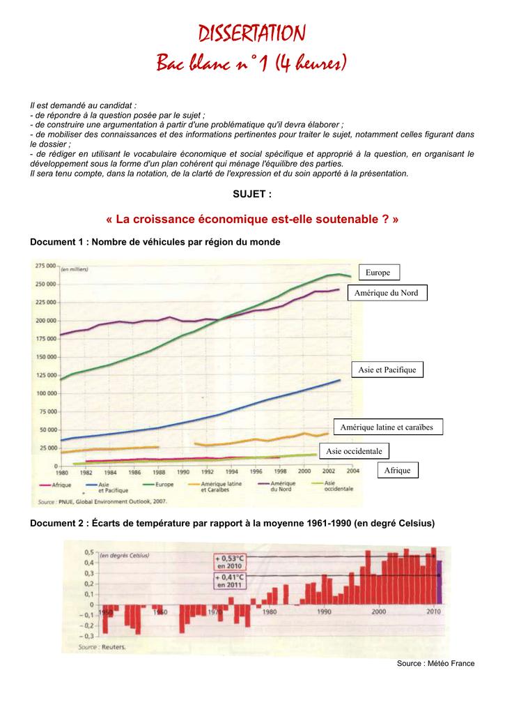 dissertation la croissance économique est elle soutenable