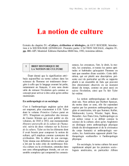 Culture et civilisation
