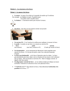 Unit 4 – Structures and Forces