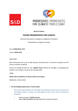 Programme : Young progressives for Climate - Social