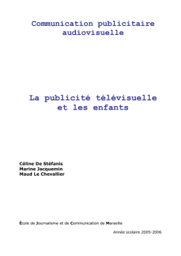 Introduction - Communication Publicitaire Audiovisuelle