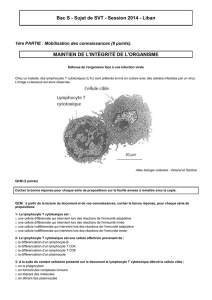 Bac S - Sujet de SVT - Session 2014