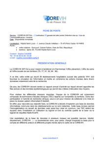 Description poste Biostatisticien Corevih Ile-de-France Est