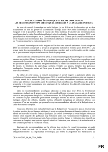 Intervention du CES bulgare du 13 juin