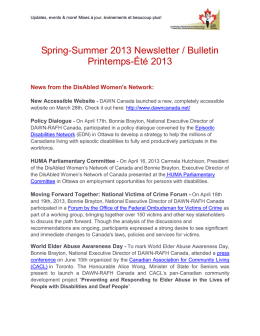 Spring-Summer 2013 Newsletter – Bulletin