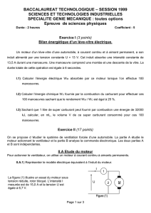 BACCALAUREAT TECHNOLOGIQUE – SESSION 1999