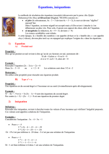 Equations, inéquations