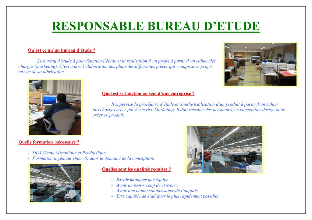 Responsable Bureau D Etude