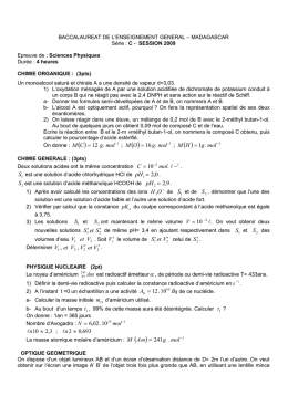 BACCALAUREAT DE L`ENSEIGNEMENT GENERAL