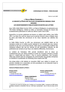 COMMUNIQUE DE PRESSE – PRESS RELEASE Paris le 3 avril