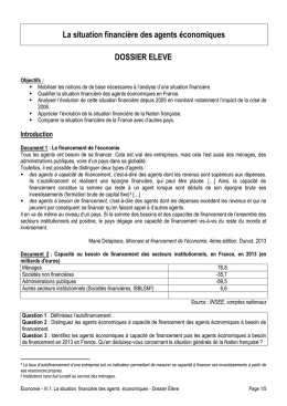 Le document élève
