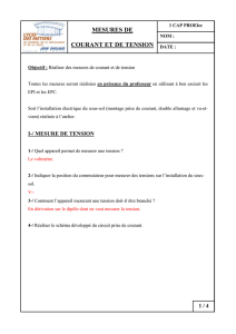Mesure de courant et de tension document professeur