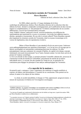 Notes de lecture - PauSES (PAU Sciences Economiques et Sociales)