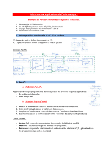 Initiation aux applications de l`informatique : Exemples de Parties