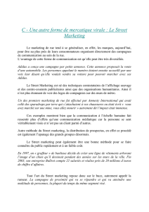 Une autre forme de mercatique virale : Le Street Marketing