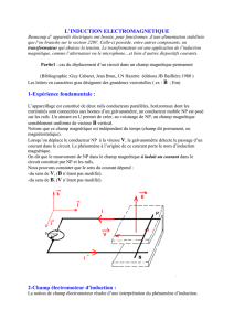INDUCTION ELECTROMAGNETIQUE