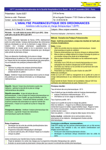 l`analyse pharmaceutique des ordonnances