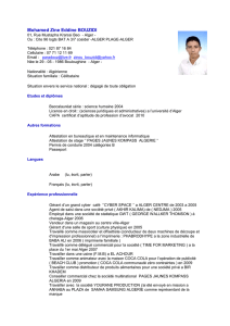 CV_-ZINOU - Forum Call Appel