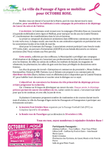 Octobre Rose - Le Passage d`Agen