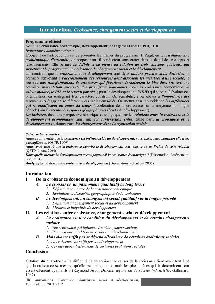 amorce dissertation pib