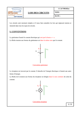 Lois des circuits document professeur