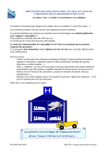 prevention des infections lies aux travaux dans ou a