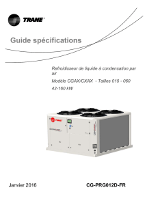 Guide specifications FCD-FED-FCU-FEU