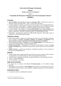 Master « Sciences de la mer et du littoral