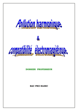 Pollution harmonique document professeur
